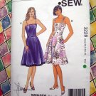 Kwik Sew Pattern # 3228 UNCUT Misses Summer Dress Size XS Small Medium Large XL