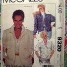 McCalls Pattern # 9320 UNCUT Jacket or Vest Size Small 6 8