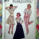 Simplicity Pattern # 8186 UNCUT Misses Suspender Skirt Pants Sizes 10 12 14