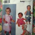Simplicity Pattern # 5691 UNCUT Baby Dress Panties Bonnet ALL Sizes XXS XS Small Medium Large