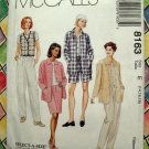 McCalls Pattern # 8163 UNCUT Misses Shirt Jacket Vest Pants Shorts Skirt Size 14 16 18