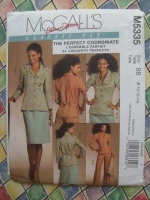 McCalls Pattern # 5335 UNCUT Misses Jacket, Skirt, Pants Size 8 10 12 14