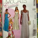 McCalls Pattern #M 6030 UNCUT Misses Empire Waist Long Dress / Gown Size 16 18 20