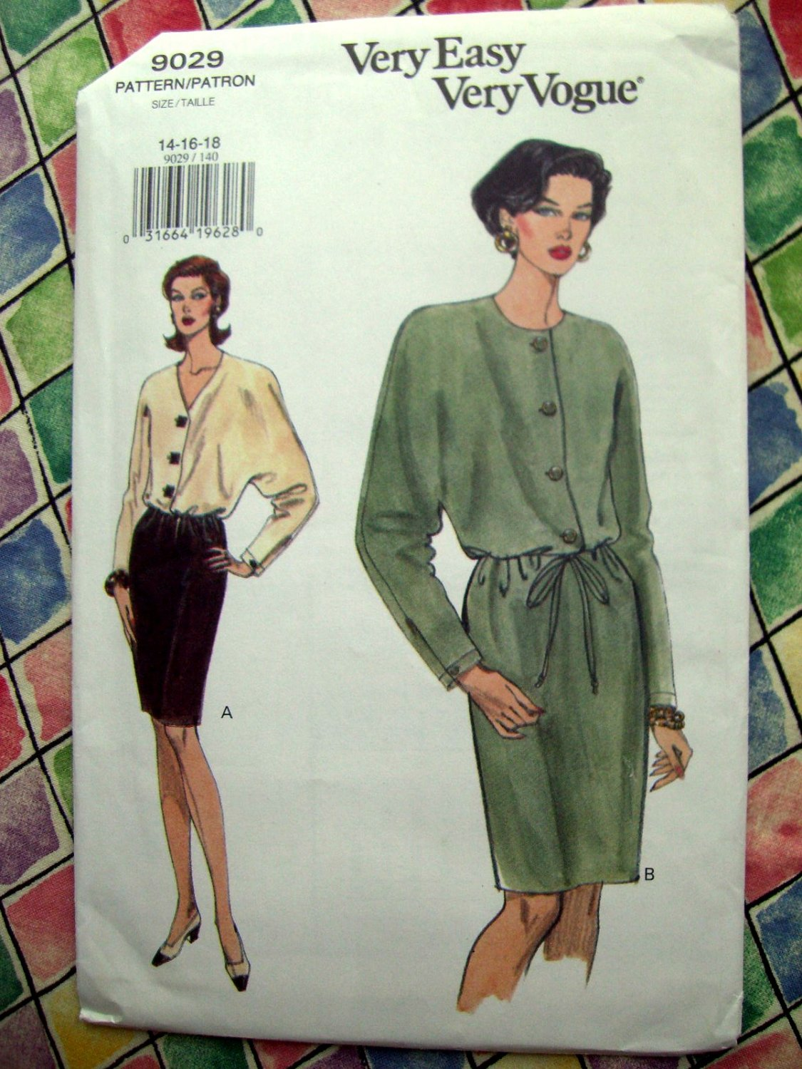 SOLD! Vogue Pattern # 9029 UNCUT Misses Dress Size 14 16 18