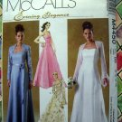 McCalls Pattern 4450 UNCUT Misses Gown ~ Formal Dress Size 10 12 14