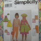 Simplicity Pattern # 8583 UNCUT Girls Dress  Jumper Pants Hat Size 3 4 5 6