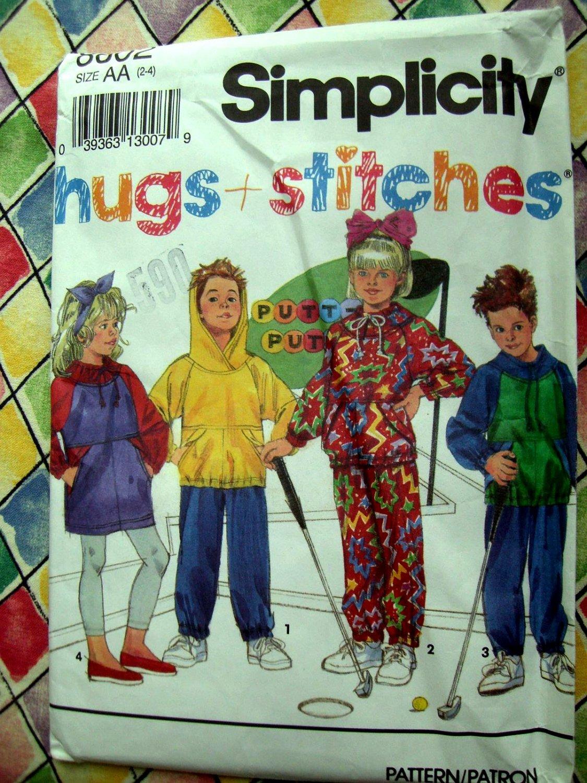 Simplicity Pattern # 8002 UNCUT Kids Boys Girls Pants Dress Top Size 2 3 4
