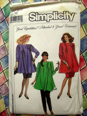 Simplicity Pattern # 8757 UNCUT Maternity Woman's Top Pants Size 16