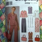 Simplicity Pattern # 5204 UNCUT Misses Pants Capri Skirt Shirt Bag Size 14 16 18 20 22