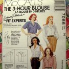 McCalls Pattern # 7066 UNCUT Misses 3 Hour Blouse Size 16