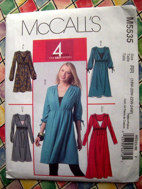 McCalls Pattern # 5535 UNCUT Misses Jacket, Skirt, Pants Size 18 20 22 24