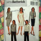 Butterick Pattern # 3978 UNCUT Dress Skirt Jacket Sizes 12 14 16