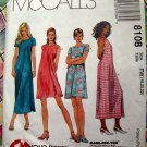 McCall's Pattern # 8108 UNCUT Misses' Dress in Two Lengths Size 12 14 16