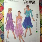 Kwik Sew Pattern # 3331 UNCUT Misses Leotard Handkerchief Shirts Size XS Small Medium Large XL