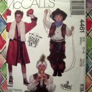 McCalls Pattern # 4461 UNCUT Boy Costume Boxer Cowboy Pirate Karate Soldier Boys Size SMALL 2 4