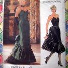 Rare Vogue Pattern # 1471 UNCUT Misses Special Occasion Strapless Gown Dress Size 16