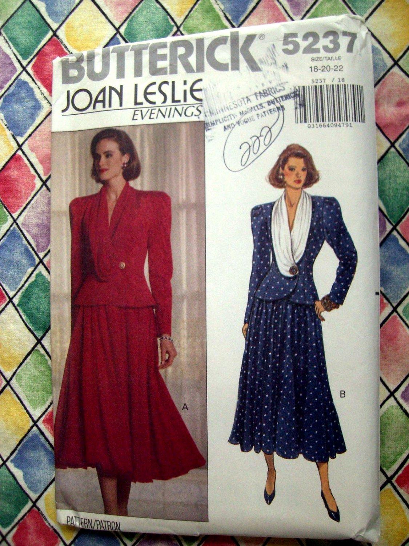 Butterick Pattern # 5237 UNCUT Misses Unique Top Skirt Size 18 20 22