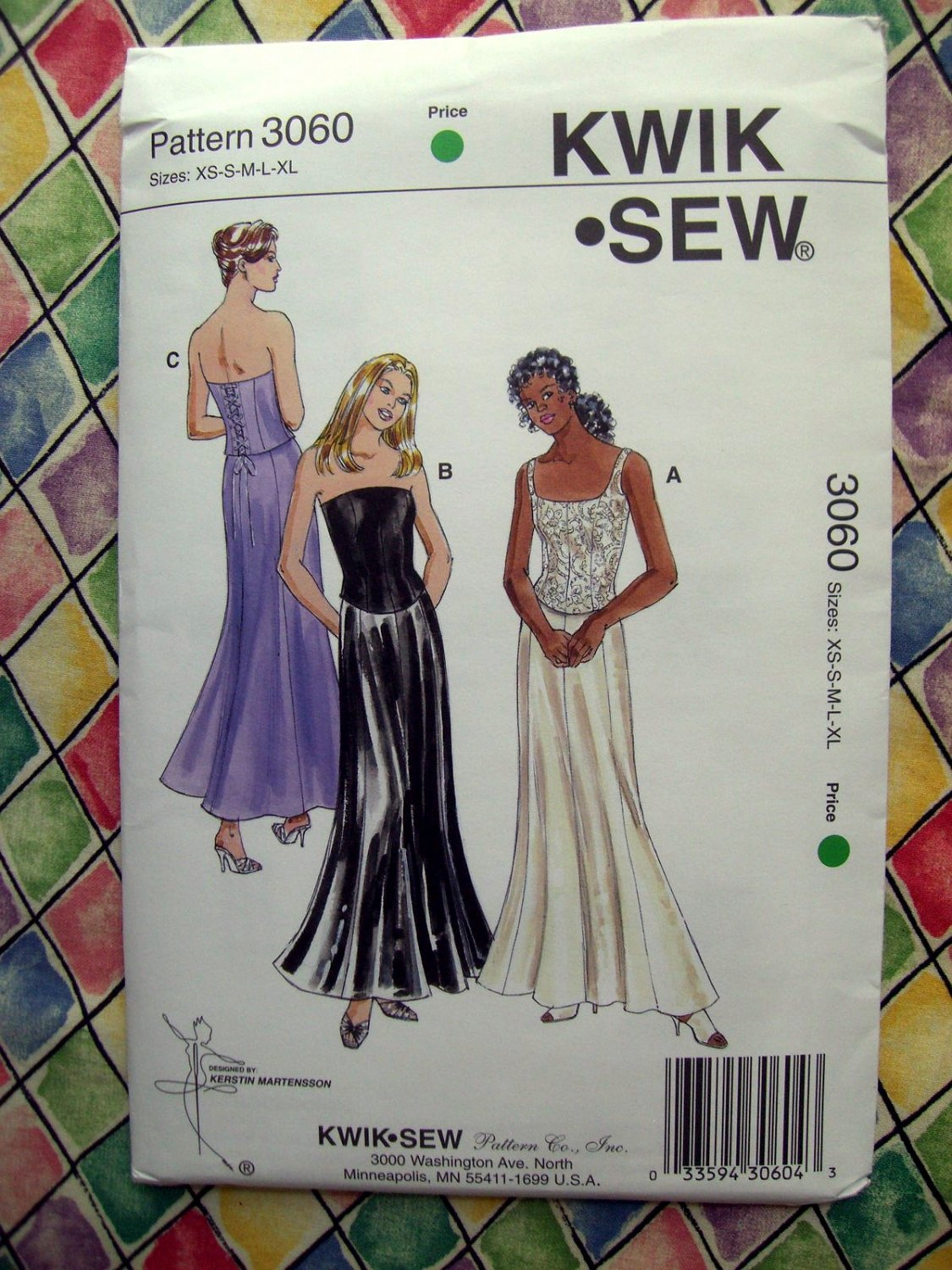 Kwik Sew Pattern # 3060 UNCUT Misses Formal Skirt & Top Size XS Small Medium Large XL