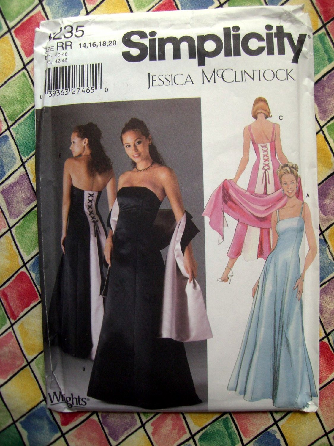 SOLD! Simplicity Pattern # 5235 UNCUT Misses Gown Formal Occasion Dress Clintock Size 14 16 18 20