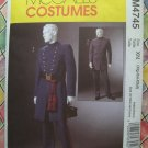 McCall's Costume Pattern #4745 UNCUT Civil War Officers Uniform Size XL XXL XXXL