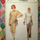 Vogue Pattern # 8962 UNCUT Misses Top Skirt (Long or Short) Size 12