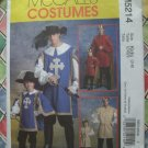 McCalls Pattern # 5214 UNCUT Boys Costume Knight Musketeer Prince Size 3 4 5 6 7 8