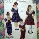 McCalls Pattern # 5116 UNCUT Girls Dress Jumpsuit Size 4 5 6
