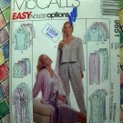 McCalls Pattern # 9651 UNCUT Misses PJs Nightgown Pants Shorts Tops Robe Size Large XL