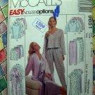 McCalls Pattern # 9651 UNCUT Misses PJs Nightgown Pants Shorts Tops Robe Size Large XL