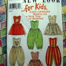 NEW LOOK Pattern # 6494 UNCUT Baby Toddler Pinafore Dress Romper Size 1/2  1 2 3 4