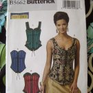 Butterick Pattern # 5662 UNCUT Misses Corset Pattern 4 Styles Size 6 8 10 12 14