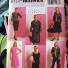 Butterick Pattern # 5147 UNCUT Misses Wardrobe Jacket  Top Dress Skirt Size 8 10 12 14