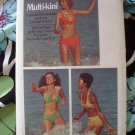 Vintage Butterick Pattern # 6674 UNCUT Misses Bikini Top Bottom Swimsuit Size 6 8 10 12 14 16