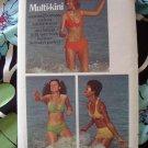 Vintage Butterick Pattern # 6674 UNCUT Misses Bikini Top Bottom Swimsuit Size 6 8 10 12 14 16