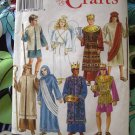 Simplicity Pattern #  8275  UNCUT Nativity Costumes King Shepherd Joseph Mary Size XS S M L XL