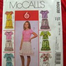 McCalls Pattern # 5038 UNCUT Girls Shrug, Tank Top Skirt Size 12 14 16