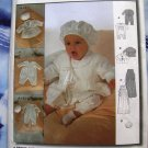 Burda Pattern 9944 UNCUT Baby Christening Wardrobe Robe Onesie  Bonnet Jacket Size Infant