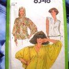 Vintage Simplicity Pattern # 8348 UNCUT Misses Blouse Pattern Size 10