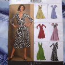 Vogue Pattern # 8489 UNCUT Easy Options Misses Stretch Knit Dress Size 18 20 22 24