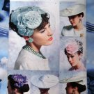 Vogue Pattern # 0652 UNCUT Retro Vintage Misses Hat / Hats Circa 1950's