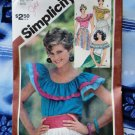 Simplicity Pattern # 5940 UNCUT Misses Pull-Over Ruffled Blouse Size 14 16