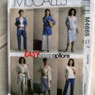 McCalls Pattern # 4665 UNCUT Misses Top Pants Skirt Jacket Size Large XL