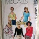 McCalls Pattern # 4517 UNCUT Misses Tops Size Large and XL