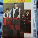 McCalls Pattern # 5446 UNCUT Mens Pirate Costume Size S Medium Large XL