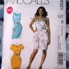McCalls Pattern # 6321 UNCUT Misses Dress Variations Size 8 10 12 14
