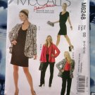 McCalls Pattern # 6248 UNCUT Misses Wardrobe Jacket Pants Top Dress  Size 8 10 12 14