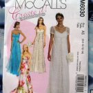 McCalls Pattern # 6030 UNCUT Misses Formal Long Dress Size 6 8 10 12 14