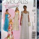 McCalls Pattern # 6030 UNCUT Misses Formal Long Dress Size 6 8 10 12 14