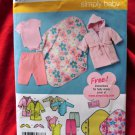 Simplicity Pattern # 3711 UNCUT Baby Wardrobe Layette ALL Sizes XXS XS S M L