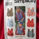 Simplicity Pattern # 9704 UNCUT Boy Girl Vest Size 7 8 10